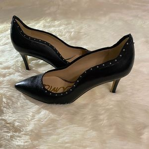 Sam Edelman Black Leather Heels Size 6.5